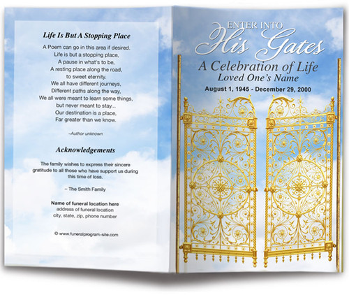 Gates Funeral Program Template