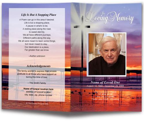 Glorify Funeral Program Template