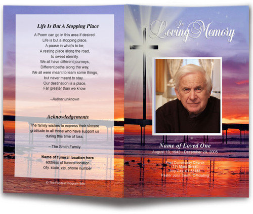Glorify Funeral Program Template