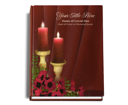 Candlelight Perfect Bind Funeral Guest Book 8x10