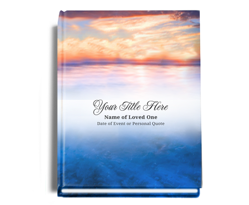 Dusk Perfect Bind Funeral Guest Book 8x10