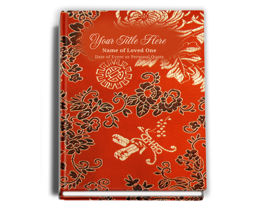 Dynasty Perfect Bind Funeral Guest Book 8x10