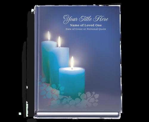 Enlighten Perfect Bind Funeral Guest Book 8x10