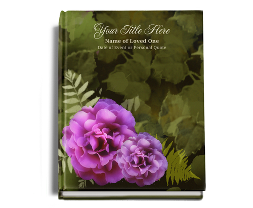 Essence Perfect Bind Memorial Funeral Guest Book 8x10