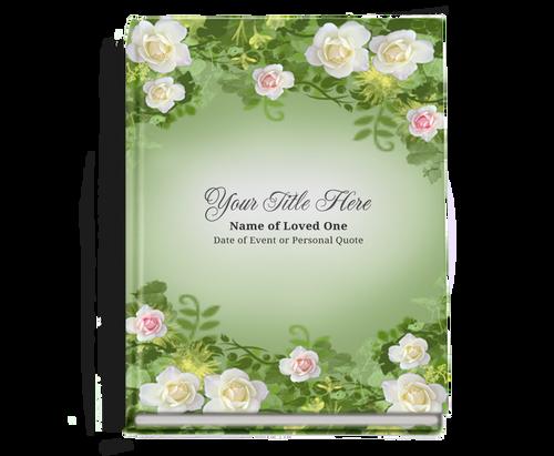 Garden Perfect Bind Memorial Funeral Guest Book 8x10
