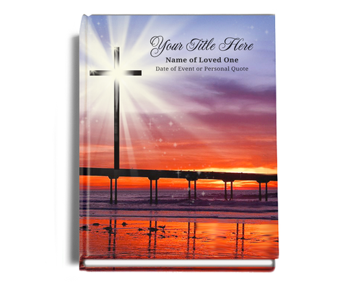 Glorify Perfect Bind Memorial Funeral Guest Book 8x10