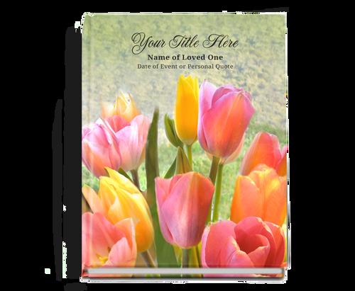 Harvest Perfect Bind Memorial Funeral Guest Book 8x10