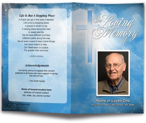 heaven funeral program template