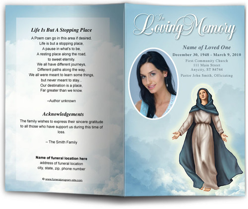Mary Funeral Program Template