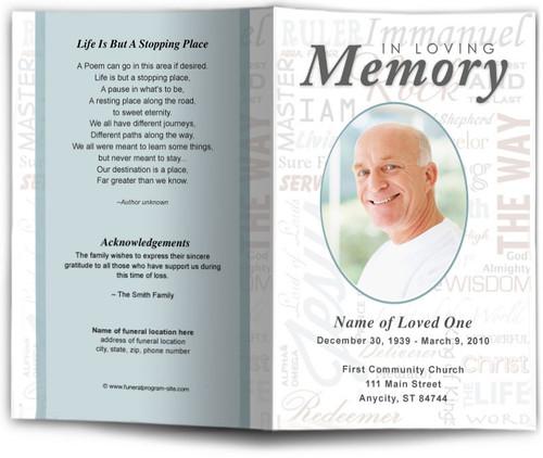 Names Funeral Program Template