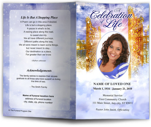 Pathway Funeral Program Template