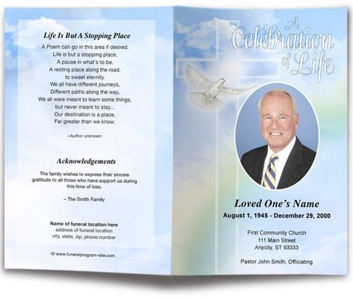 Salvation Funeral Program Template