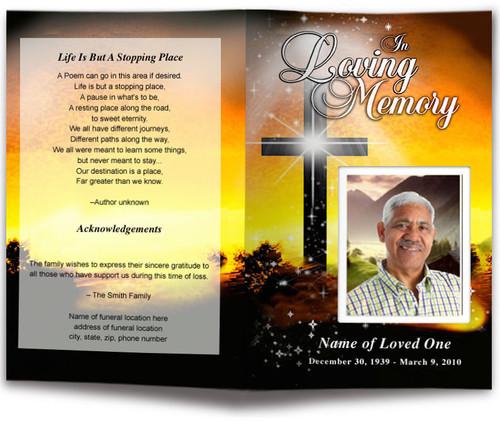 Splendor Funeral Program Template