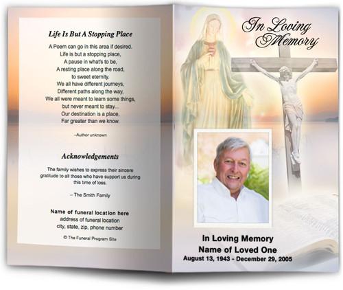 Vision Funeral Program Template