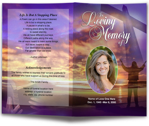 Worship Funeral Program Template