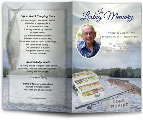 Angler Funeral Program Template
