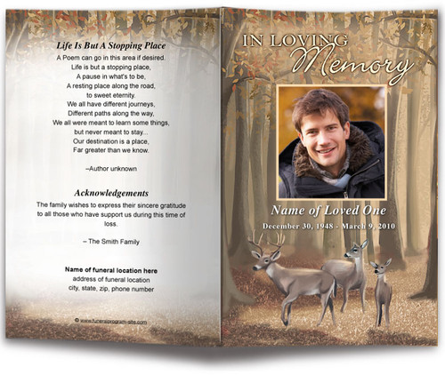 Deer Funeral Program Template