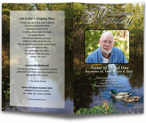Duck Funeral Program Template