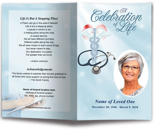 Nurse Funeral Program Template