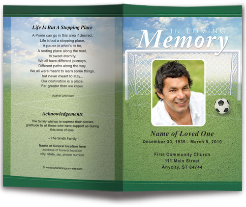 Soccer Funeral Program Template