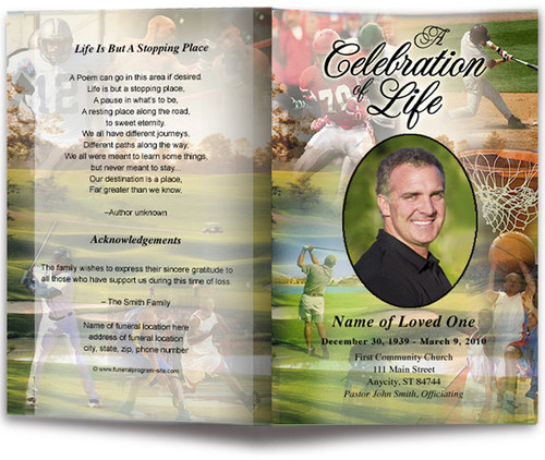 Sports Funeral Program Template
