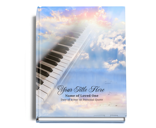 Ivory Perfect Bind Funeral Guest Book 8x10