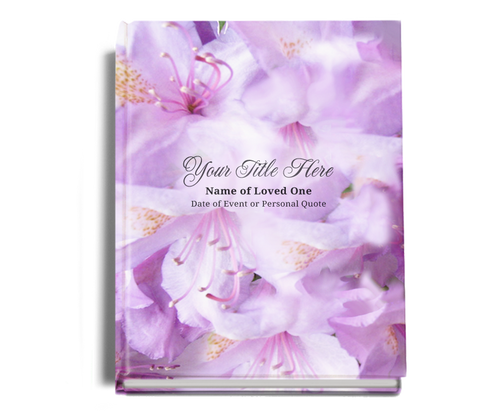 Lavender Perfect Bind Funeral Guest Book 8x10