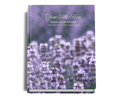 Lilac Perfect Bind Funeral Guest Book 8x10