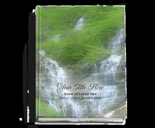 Majestic Perfect Bind Funeral Guest Book 8x10