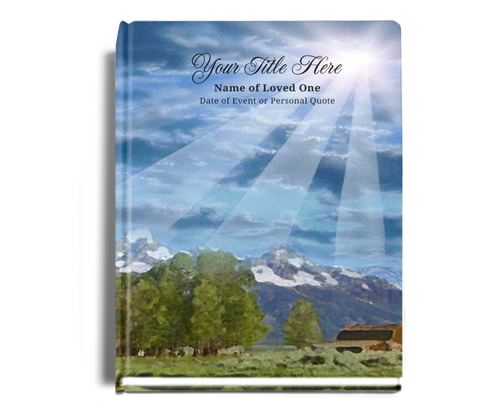 Outdoor Perfect Bind Funeral Guest Book 8x10