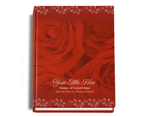 Passion Perfect Bind Funeral Guest Book 8x10