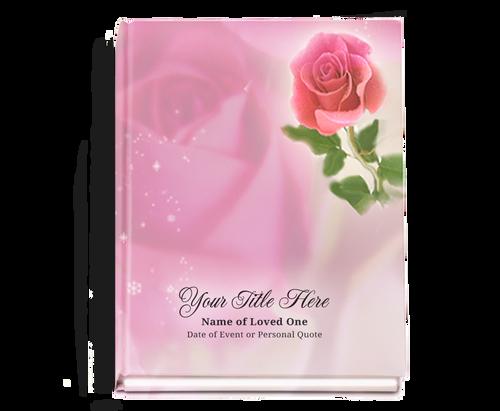 Petals Perfect Bind Funeral Guest Book 8x10