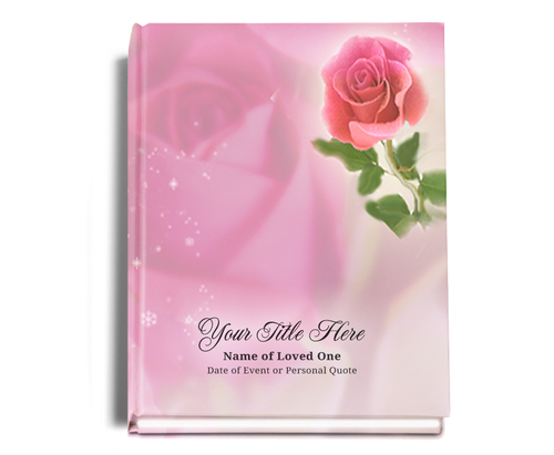Petals Perfect Bind Funeral Guest Book 8x10