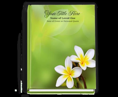 Plumeria Perfect Bind Funeral Guest Book 8x10
