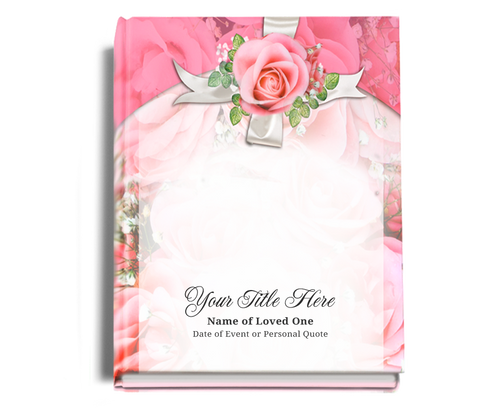 Precious Perfect Bind Funeral Guest Book 8x10