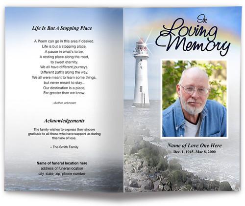 Beacon Funeral Program Template