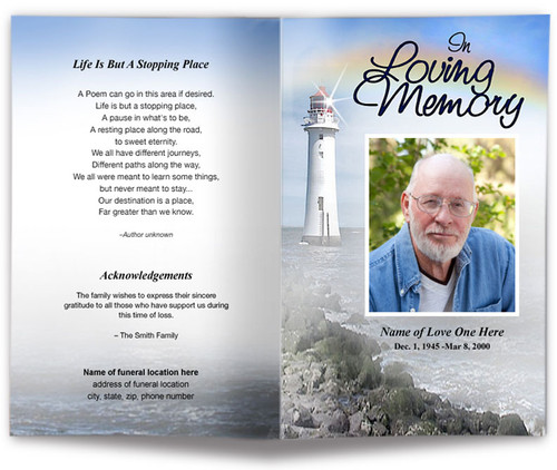 Beacon Funeral Program Template