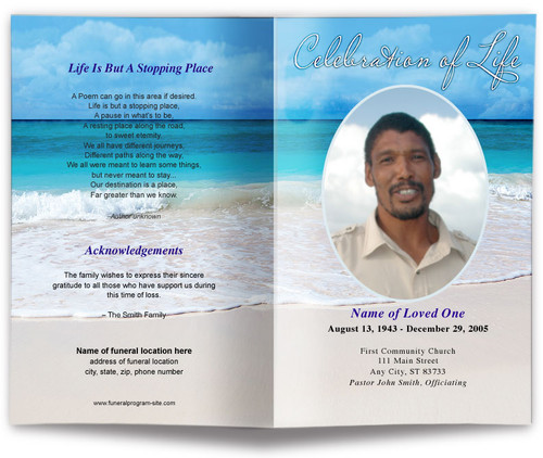 Caribbean Funeral Program Template