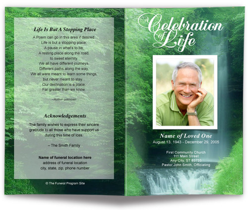 Cascade Funeral Program Template