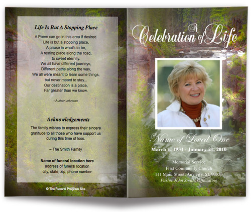 Graceful Funeral Program Template