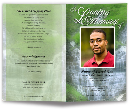 Majestic Funeral Program Template
