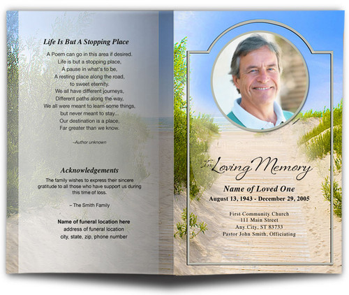Sandunes Funeral Program Template
