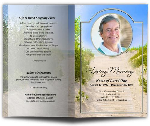 Sandunes Funeral Program Template