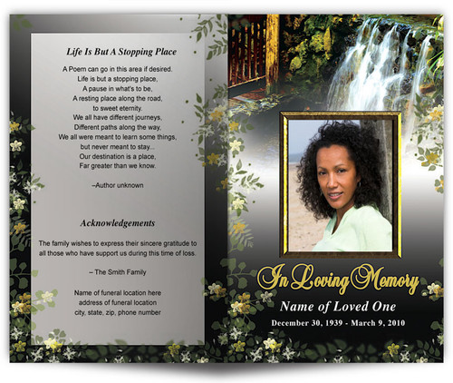 Serene Funeral Program Template