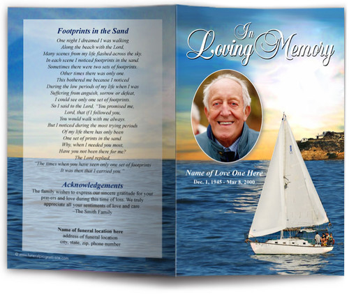 Voyage Funeral Program Template