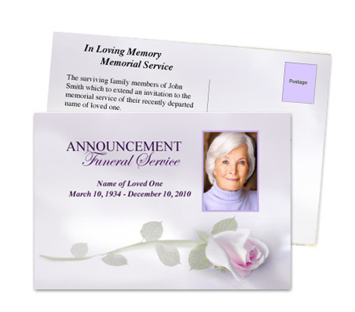 Beloved Funeral Announcement Template