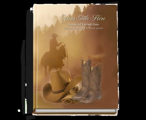 Ranch Perfect Bind Memorial Funeral Guest Book 8x10