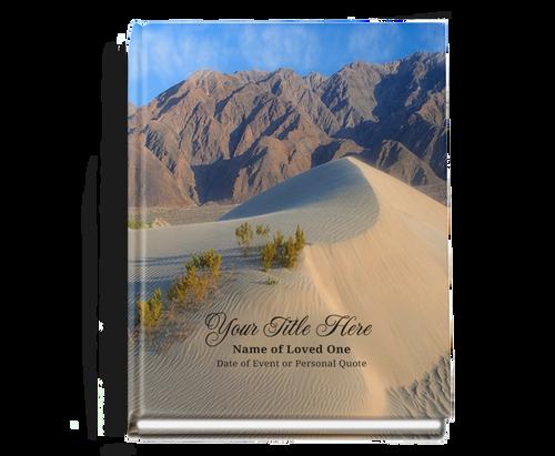 Sandy Perfect Bind Memorial Funeral Guest Book 8x10