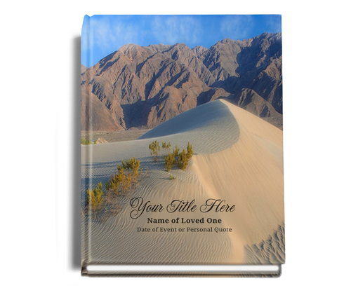 Sandy Perfect Bind Memorial Funeral Guest Book 8x10