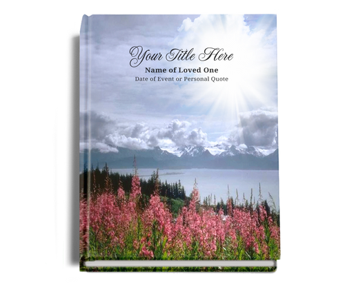 Seasons Perfect Bind Memorial Funeral Guest Book 8x10
